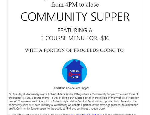 Robert's Maine Grill Community Supper